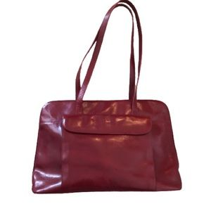HOBO Large Red Leather Satchel and Dustbag